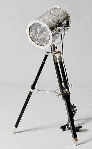 TRIPOD LAMPA  SVART   KROM