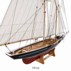 SEGELBÅTSMODELL  BLUENOSE  150 CM