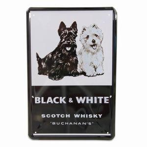 PLÅTSKYLT  BLACK  &  WHITE  WHISKY